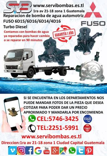 bomba de agua automotriz  mitsubishi mirage 1.0,1.2 guatemal