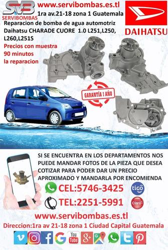 bomba de agua automotriz suzuki grand vitara guatemala