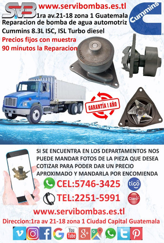bomba de agua automotriz volvo camion fe6,fe7,fl6,fl7,fm7,f