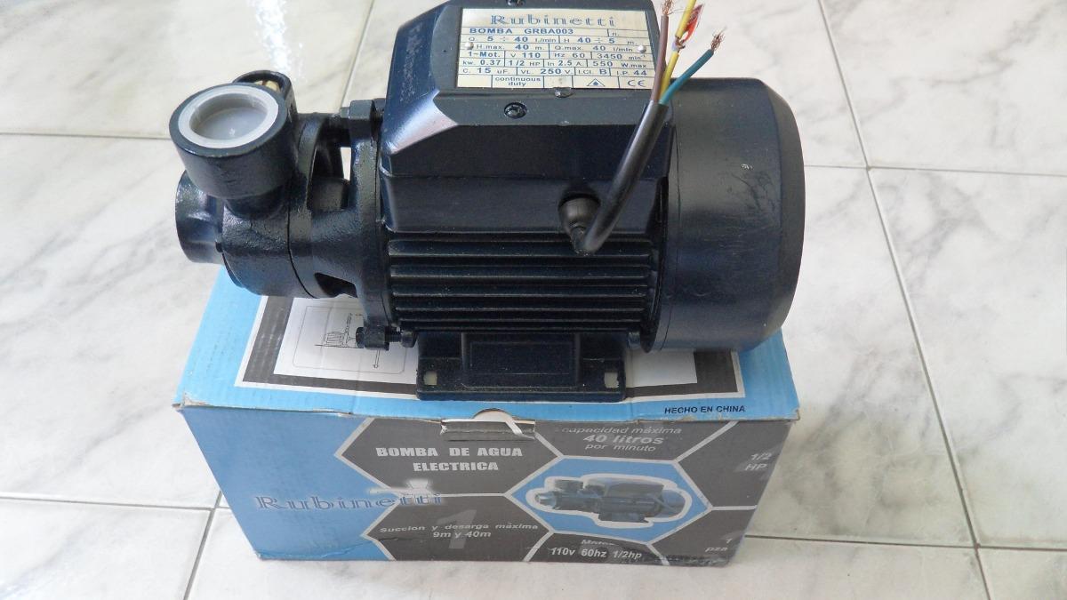 Bomba de agua el ctrica de 1 2 hp rubinetti bs - Bombas de agua electricas precios ...