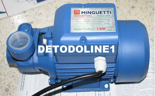 Bomba de agua electrica periferica 1 2 hp minguetti - Bombas de agua electricas precios ...