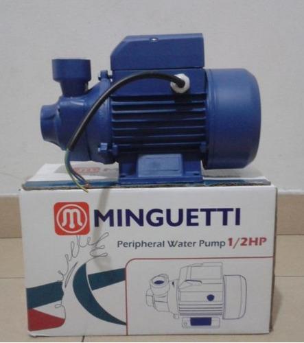 bomba de agua minguetti 1/2 hp