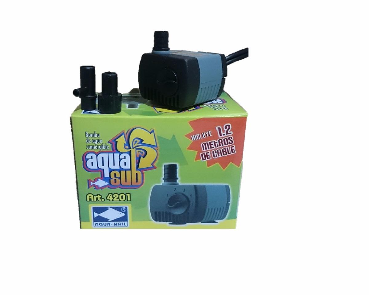 Bomba de agua mini sumergible 230l h fuente acuario en mercado libre - Motor de fuente de agua ...