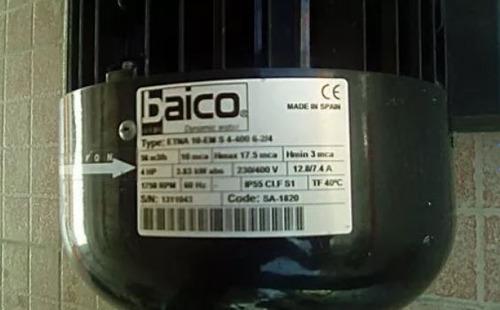 bomba de agua para piscina 4hp baico serie etna