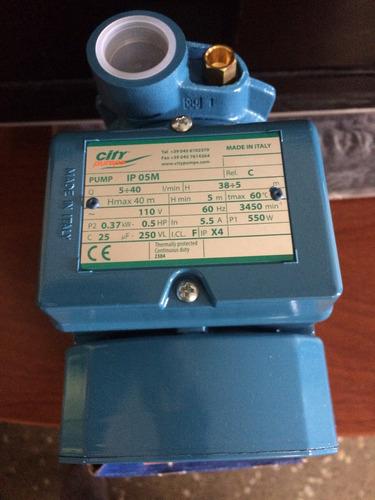 bomba de agua periferica 1/2 hp city pedrollo 110v. italiana