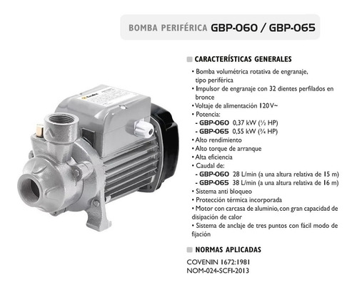 bomba de agua periferica 3/4 hp exceline 2 años de garantia