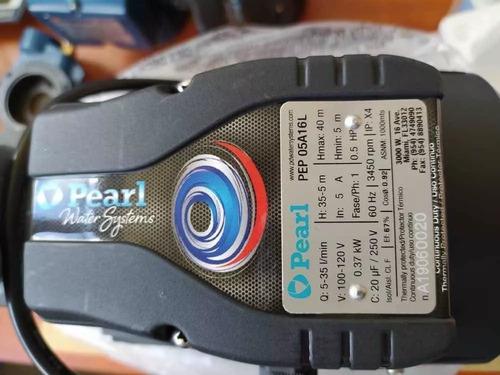 bomba de agua periférica pearl. 1/2 hp, 110 voltios. u.s.a.