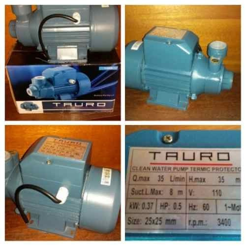 bomba de agua periferica tauro 1/2hp diseñada en usa !!nueva