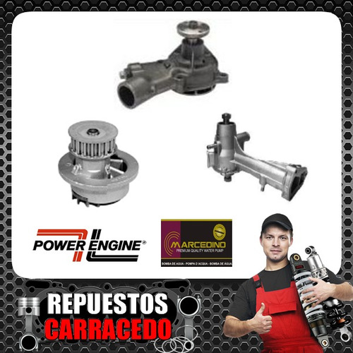 bomba de agua power engine dodge 1500-1800