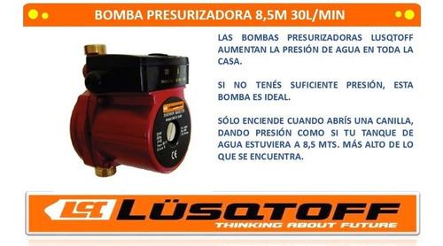 bomba de agua presurizadora 8.5m 220v 30l lusqtoff pintumm