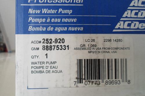 bomba de agua ram motor diesel acdelco.