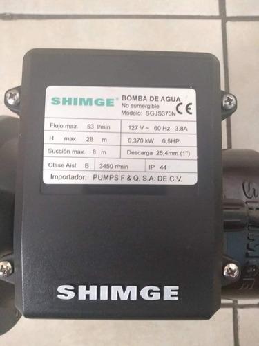 bomba de agua shimge 1/2 caballo inoxidable 110v.