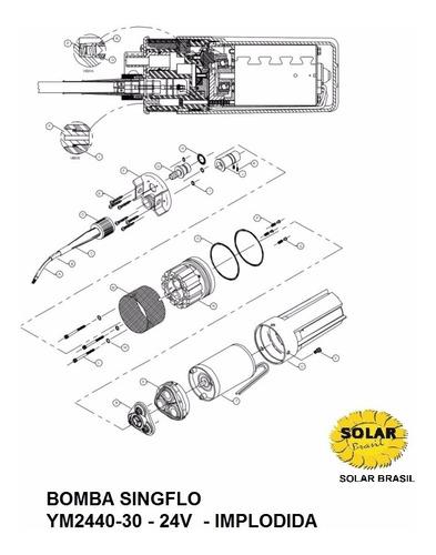 bomba de água solar submersível 70 metros 24v well 2440