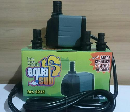 bomba de agua sumergible 1200l/h 2m fuente muro jardin
