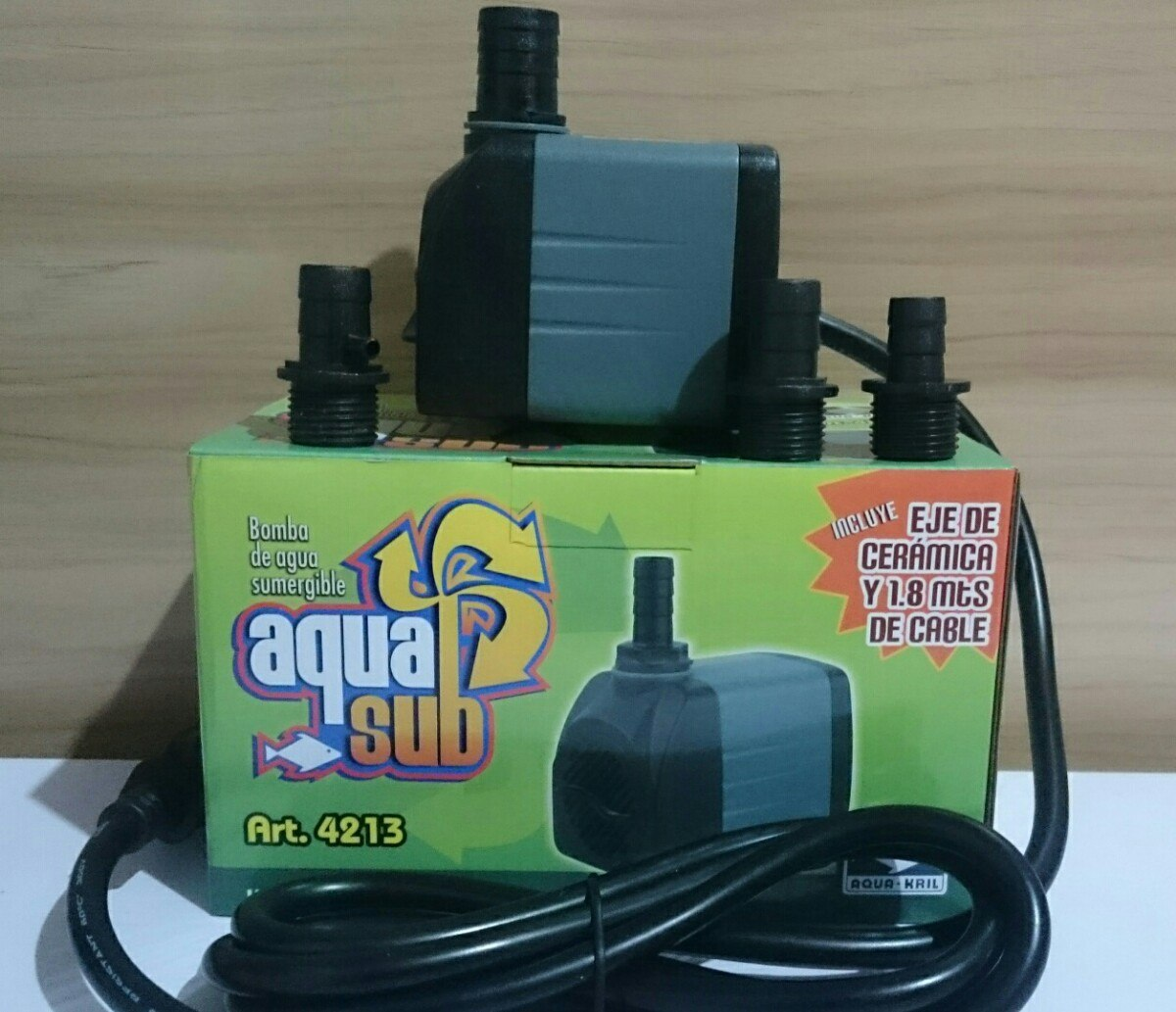 Bomba de agua sumergible 1200l h 2m peces pecera 369 - Bomba de agua precio ...