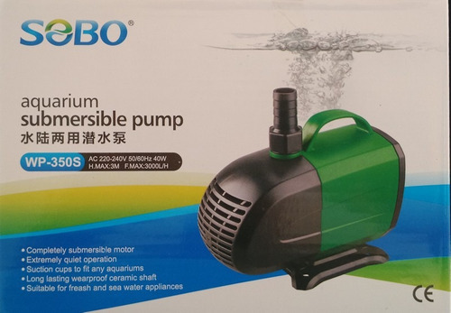 bomba de agua sumergible 3000 lt/hra marca sobo fullventas