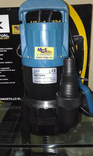 bomba de agua sumergible 750p marca leo.