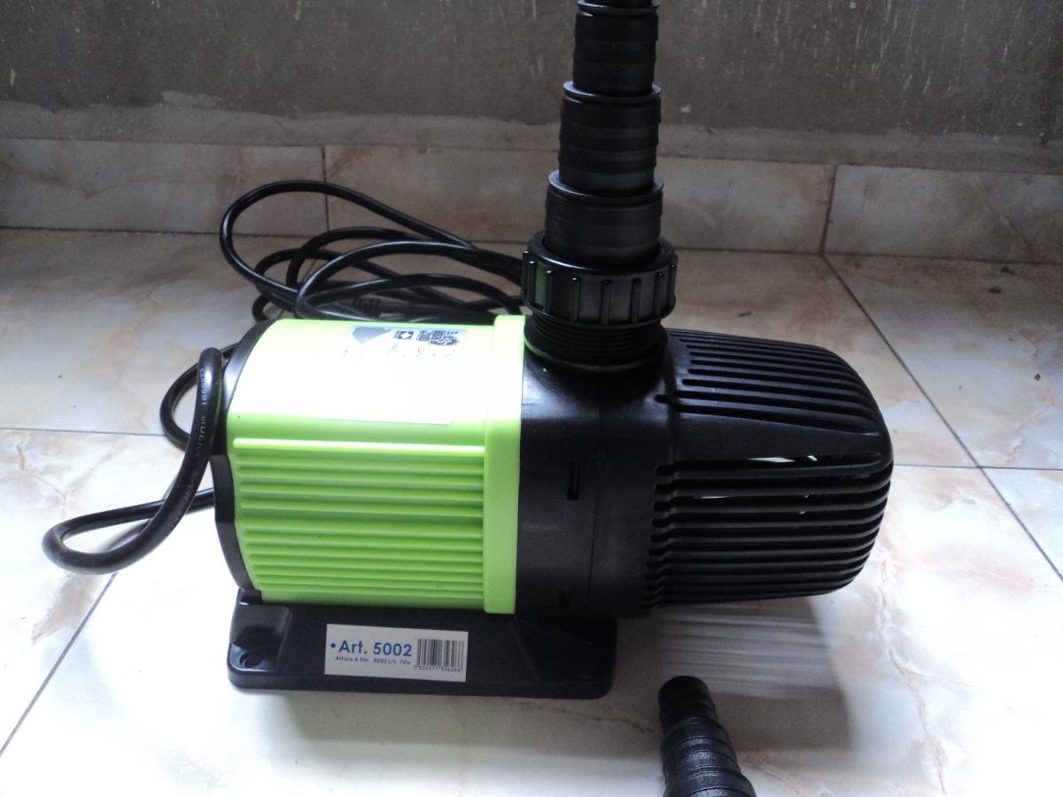 Bomba de agua sumergible o externa 8000l h 70watts for Bomba cascada agua
