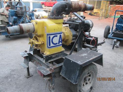 bomba de agua traga solidos achique wacker plt6 bombas pump