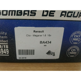 Bomba De Agua Vmg Para Renault Logan Sandero 1.6 16v K4m