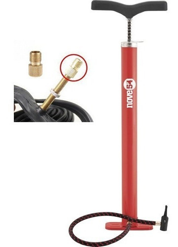 bomba de ar para pneu, bicicleta, moto, c/adaptador presta