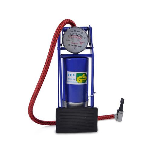 bomba de ar pedal alta pressão -pneus,moto,bicicleta,colchão