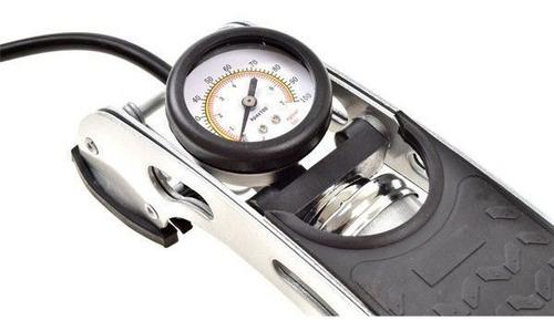 bomba de ar pedal premium alta pressão pneu carro moto bicic