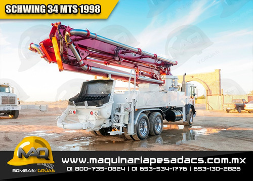 bomba de concreto mack / schwing 1998 34xl mt
