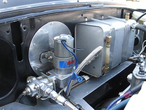 bomba de nafta holley! electrica azul con regulador
