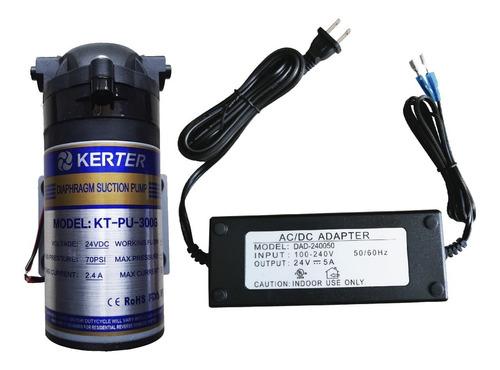 bomba de presión impulsión diafragma 300 gpd kerter y fuente