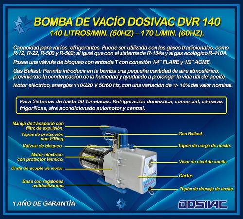 bomba de vacio dosivac dvr 140 -  1 año de garantia