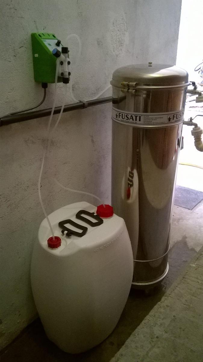 Bomba dosadora de cloro para po o semiartesiano ou piscina for Cloro liquido para piscinas