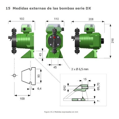 bomba dosificadora de cloro ares modelo dx7 1,5lts/h