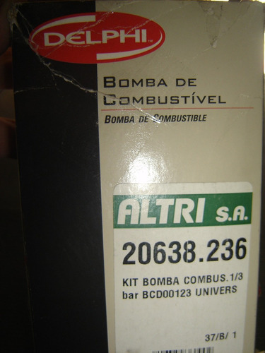 bomba electrica combustible 1/3 bar kit