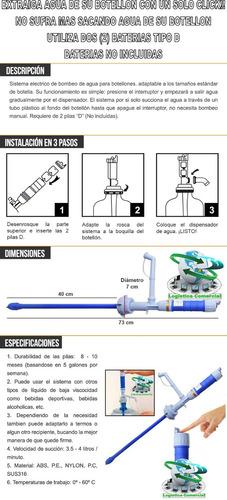 bomba eléctrica  para botellon de agua potable