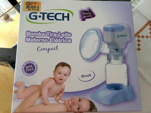 bomba elétrica tira leite materno g-tech (semi-nova)