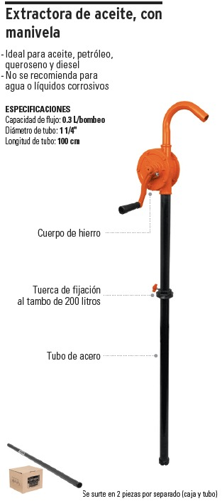 Truper Bomba manual de extracci/ón de aceite//diesel