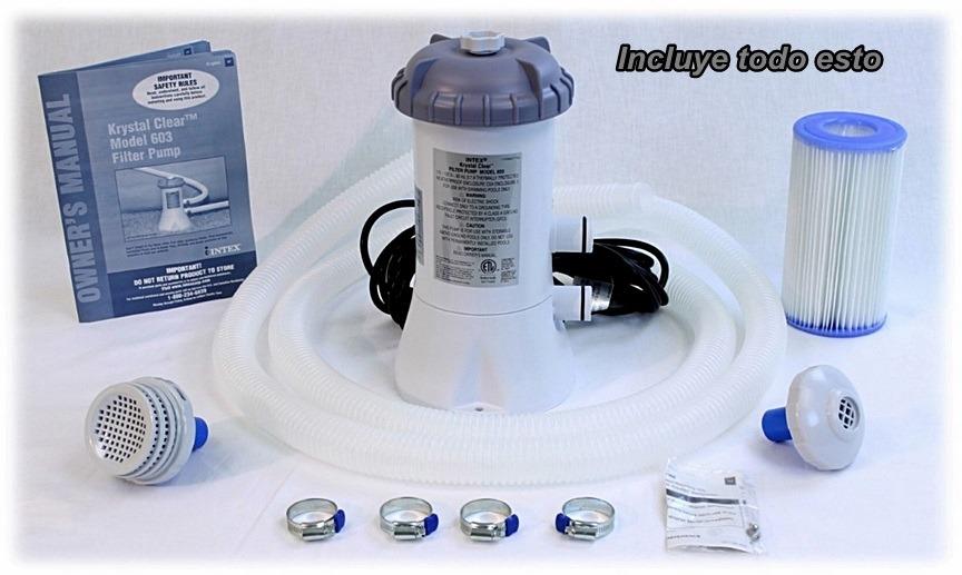 Bomba filtrante para albercas intex bestway 1000gph filtro for Limpiar filtro piscina