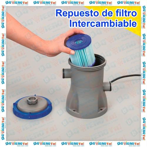 bomba filtrante piletas 14300 litros bestway 58383 + filtro