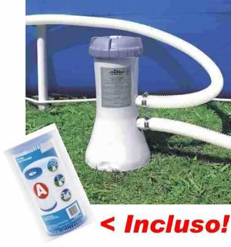 Bomba filtrante piscina intex 3785 l h 110v filtro incluso for Filtros bombas accesorios piscinas intex