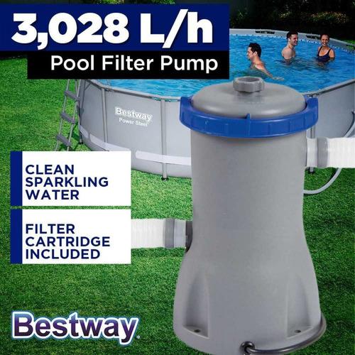 bomba filtro bestway 3028lts pileta lona inflables la grande