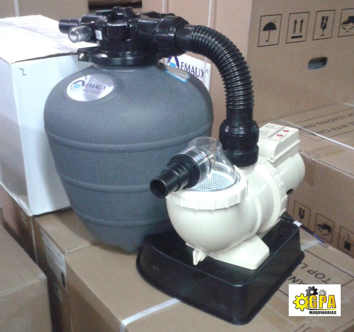 Bomba filtro piscina armable con timer g p a maquinarias for Filtros de agua para piscinas