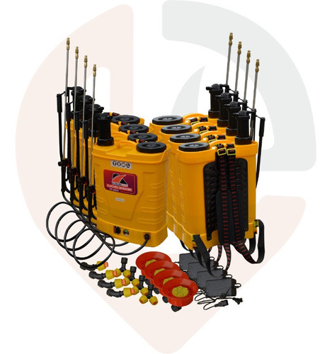 bomba fumigar bateria recargable mochila 20lt
