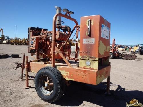bomba hidraulica unidad con motor diesel. folio 8616