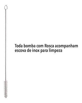 bomba inox redonda desenhada bj/pera 19cm c/rosca s/biqueira