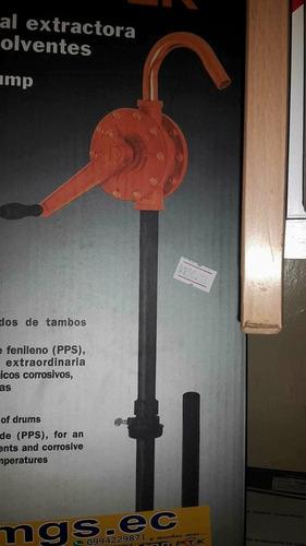 bomba manual extractora de ácidos y solventes marca truper
