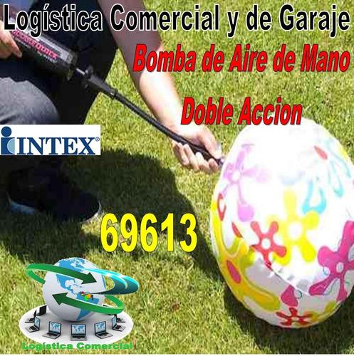 bomba manual para inflar lo que quieras intex globos pelotas