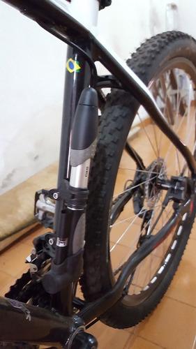 bomba mão topeak mini dual dxg manômetro bike mtb 120psi