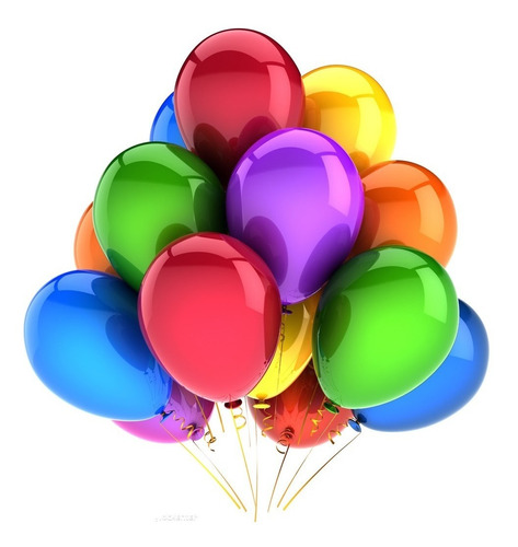 bomba neon r 12 paq x 50 unidades globo decoración fiesta  2