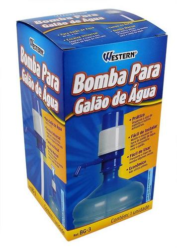 bomba p/ garrafão manual galão 10/20 litros de água western